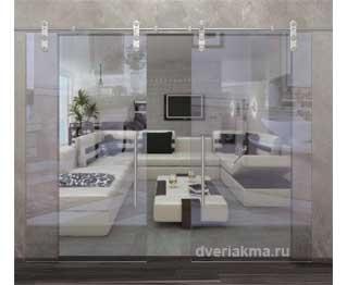 Раздвижная дверь открытого типа прозрачная